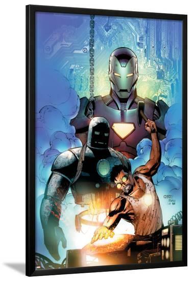 Iron Man: Requiem One Shot Cover: Stark and Tony-Sean Chen-Lamina Framed Poster