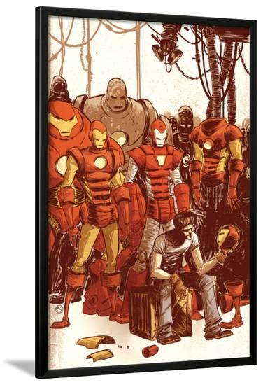 Iron Man & The Armor Wars No.1 Cover: Stark and Tony-Skottie Young-Lamina Framed Poster