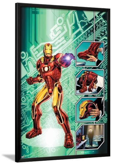 Iron Man: The End No.1 Cover: Iron Man-Bob Layton-Lamina Framed Poster