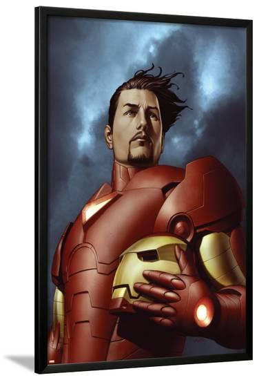 Iron ManNo.3 Cover: Iron Man, Stark and Tony--Lamina Framed Poster