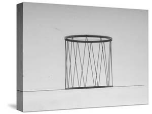 Iron Metalwork Glass-Topped Drum Table in a New Artistic Design