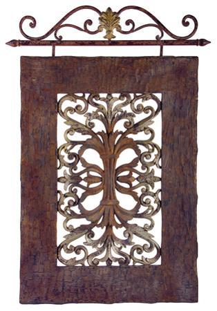 Iron Resin Scroll Wall Panel