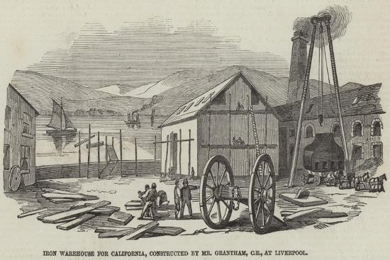 Iron Warehouse for California, Constructed by Mr Grantham, Ce, at Liverpool--Giclee Print