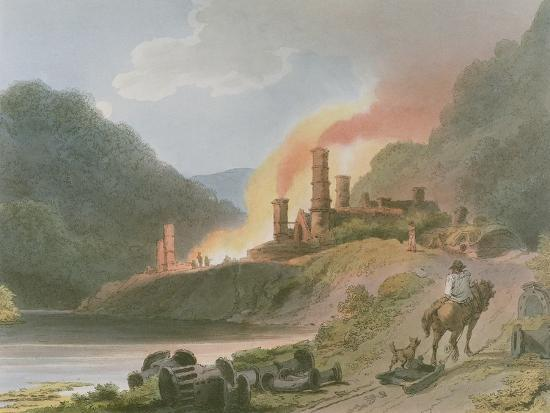 Iron Works, Coalbrook Dale, from 'Romantic and Picturesque Scenery of England and Wales', 1805-Philippe De Loutherbourg-Giclee Print