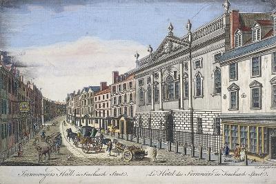 Ironmongers' Hall, London, C1750-T Loveday-Giclee Print