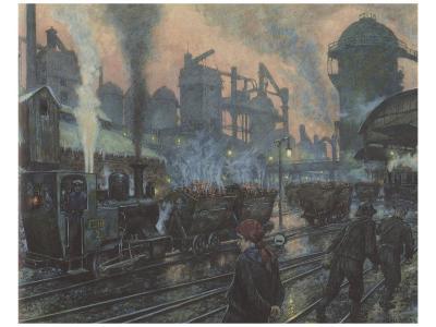 Ironworks-Hans Baluschek-Premium Giclee Print