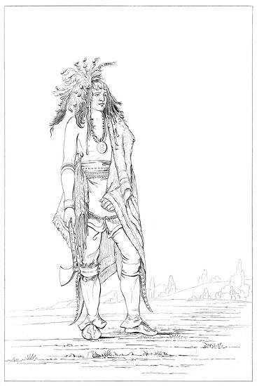 Iroquois Brave, 1841-Myers and Co-Giclee Print