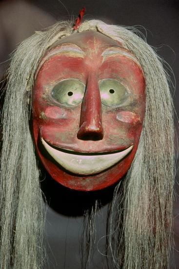 Iroquois false-face mask which belonged to a member of the 'False Face Band'. Artist: Unknown-Unknown-Giclee Print
