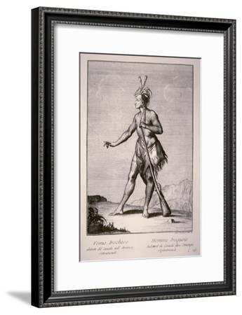 Iroquois Warrior, 1783--Framed Giclee Print