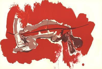 Irregular Forms on red-Paul Rebeyrolle-Art Print