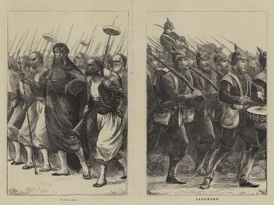 Irregulars of the French Troops--Giclee Print