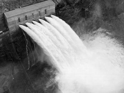 Irrigation Valves at Boulder Dam--Photographic Print