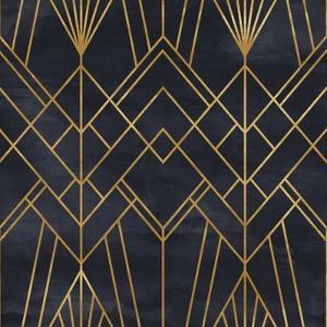 Seamless Geometric Pattern on Paper Texture. Art Deco Background by Irtsya