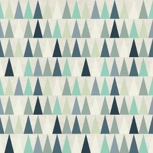 Seamless Geometric Pattern on Paper Texture. Winter/Fall Forest Background by Irtsya