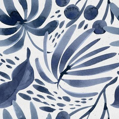 Seamless Watercolor Floral Pattern on Paper Texture. Botanical Background.