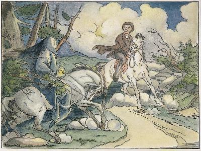Irving: Sleepy Hollow, 1849-Felix O.C. Darley-Giclee Print