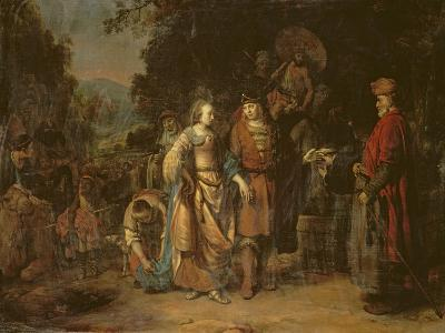 Isaac and Rebecca by the Well of Lahai-Roi-Gerbrandt Van Den Eeckhout-Giclee Print