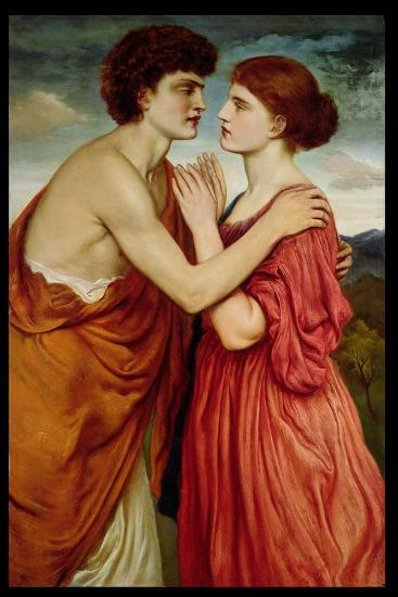 Isaac and Rebecca-Simeon Solomon-Giclee Print