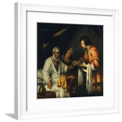 Isaac Blesses Jacob, Early 17th Century-Bernardo Strozzi-Framed Giclee Print