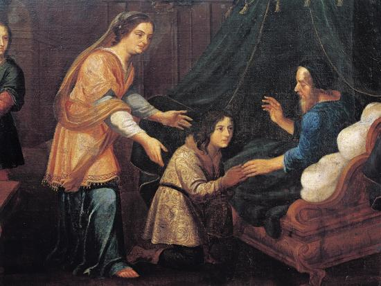 Isaac Blessing Jacob--Giclee Print