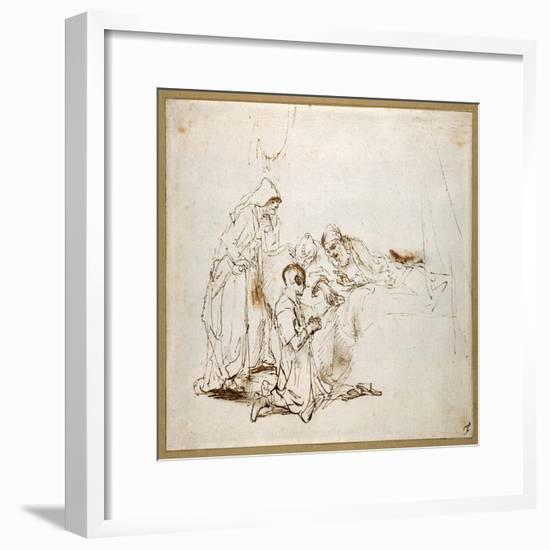 Isaac Blessing Jacob-Rembrandt van Rijn-Framed Giclee Print