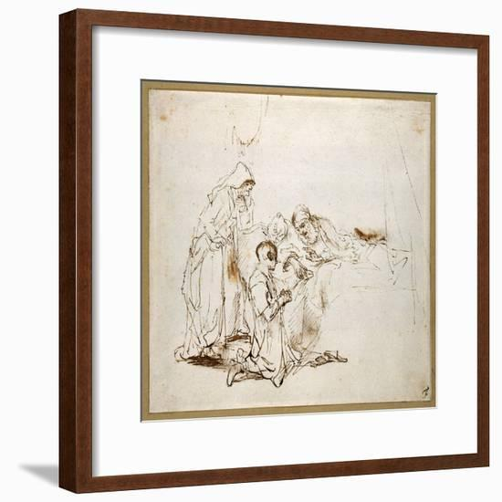 Isaac Blessing Jacob-Rembrandt van Rijn-Framed Giclee Print