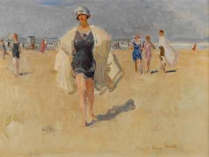 Lady on the Beach at Viareggio by Isaac Isra?ls
