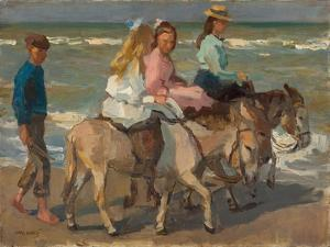 Donkey riding. 1898-1901 by Isaac Israels