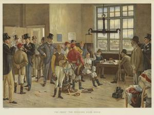 The Derby, the Weighing Room, Epsom by Isaac J. Cullin