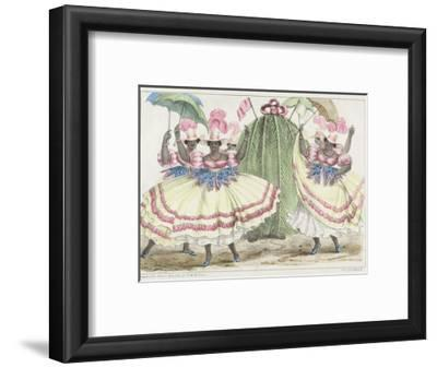 Red-Set Girls and Jack-In-The-Green, Plate 2 from 'sketches of Character...', 1838 (Colour Litho)