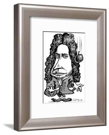 Isaac Newton, Caricature-Gary Gastrolab-Framed Giclee Print