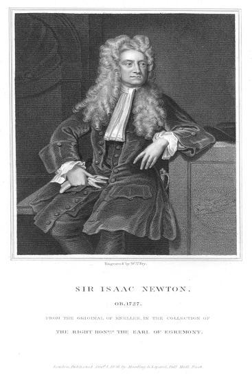 Isaac Newton, English Mathematician and Physicist, 1836-William Thomas Fry-Giclee Print