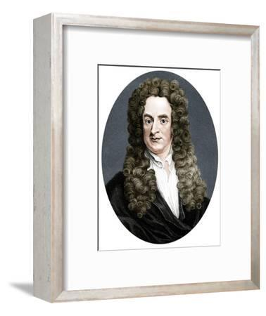 Isaac Newton, English mathematician, astronomer and physicist, (1818)-R Page-Framed Giclee Print