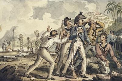 Captain Burney Discovering His Murdered Shipmates', from the Voyages of Captain Cook