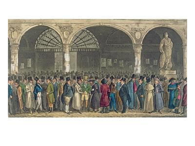 Tom and Jerry Visiting the Stock Exchange, from 'Life in London' by Pierce Egan, 1821