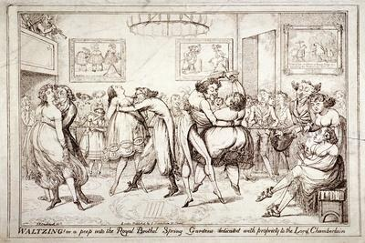 Waltzing! or a Peep into the Royal Brothel, Spring Gardens, London, C1816