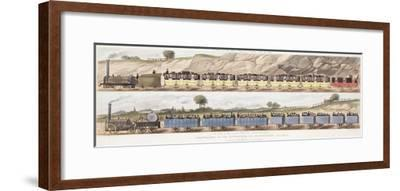A Train of the First Class of Carriages with the Mail and a Train of the Second Class for Outside P