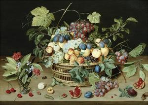 Still Life with a Basket of Fruit by Isaac Soreau