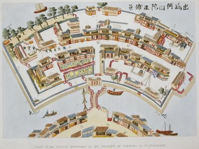 Plan of the Dutch Factory in the Island of Desima, at Nagasaki, Book from Illustrations of Japan ..