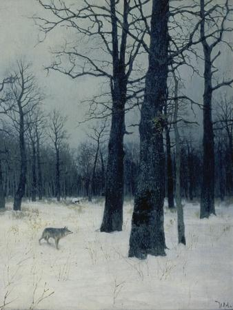 A Wolf in a Forest in Winter, 1885