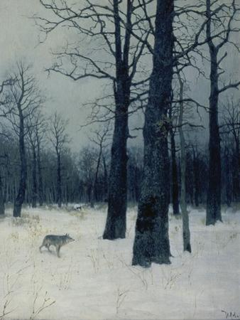 A Wolf in a Forest in Winter, 1885 by Isaak Iljitsch Lewitan