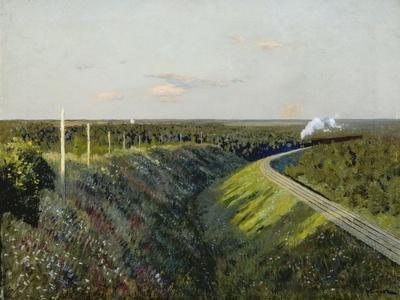 Railway with Steam Train, 1890s