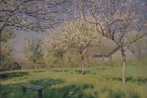 Apple Trees Blooming, C. 1895 by Isaak Ilyich Levitan