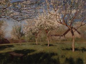 Apple Trees Blooming by Isaak Ilyich Levitan