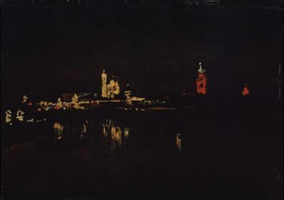 Illumination of the Moscow Kremlin, 1896