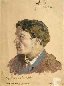 Portrait of Anton Chekhov (1860-1904) by Isaak Ilyich Levitan