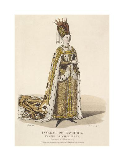 Isabeau de Baviere, Wife of Charles VI-Louis-Marie Lante-Premium Giclee Print