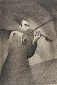 Violinist, 1932 by Isabel Alexander