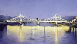 Albert Bridge (Twilight) by Isabel Hutchison