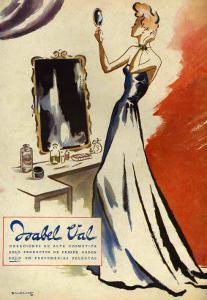 Isabel Val, Magazine Advertisement, Spain, 1942